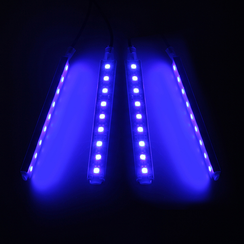 4x 9 led blue car charge interior floor decorative light lamp 12v 4in1 w switch ebay. Black Bedroom Furniture Sets. Home Design Ideas